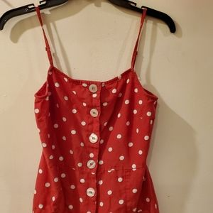 GUC ASOS red and white polka dot mini dress sz 4